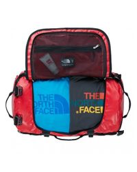 The North Face - Red Base Camp Duffel - Small (tnf White Macrofleck Camo Print/tnf Black) Duffel Bags for Men - Lyst