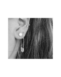 Loren Stewart | Metallic Extra Large Safety Pin Earring, Single | Lyst