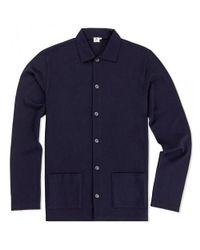 Sunspel | Blue Men's Vintage Wool Jacket In Navy for Men | Lyst