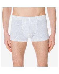 Sunspel - Men's Stretch Cotton Boxer Short In Geo Dash White for Men - Lyst