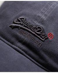 Superdry - Gray Vintage Logo Orange Label Wash Cap for Men - Lyst