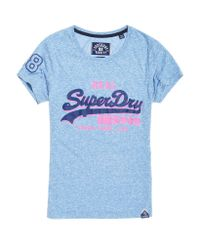 Superdry - Blue Vintage Logo Shadow T-shirt - Lyst