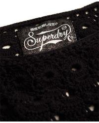 Superdry - Black Prairie Daze Crochet Top - Lyst