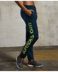 Superdry - Blue Sport Essentials Joggers - Lyst