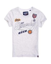 Superdry - Gray Jaime Patch T-shirt - Lyst