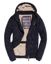 Superdry - Blue Boxy Snorkle Hooded Wind Parka Jacket - Lyst
