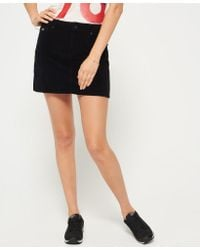 6f6a0a4a87 Superdry Cord Mini Skirt in Black - Lyst