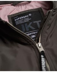 Superdry - Gray Carrie Bomber Jacket - Lyst