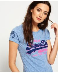 Superdry - Blue Vintage Logo Shadow T-shirt - Lyst
