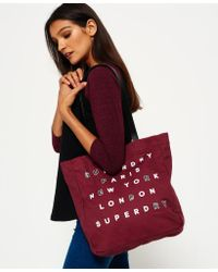 Superdry | Red Etoile Parisian Shopper Bag | Lyst