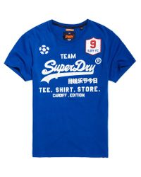 Superdry | Blue Classic Limited Edition Football T-shirt for Men | Lyst