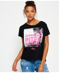 Superdry | Black Brooklyn Boyfriend T-shirt | Lyst