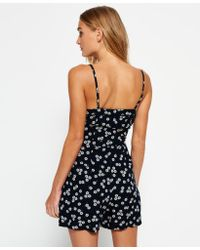 Superdry - Black Flippy Shore Playsuit - Lyst