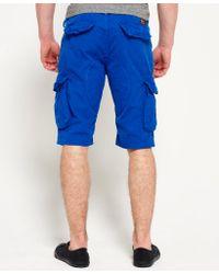 Superdry - Blue Core Cargo Lite Shorts for Men - Lyst