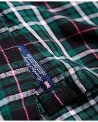 Superdry - Green Tartan Cropped Shirt - Lyst