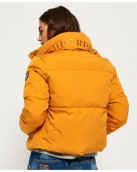 Lyst Superdry Cocoon Jacket In Orange
