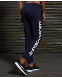 Superdry Blue Sport Essentials Joggers