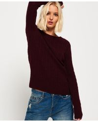 Superdry | Blue Croyde Cable Knit Jumper | Lyst