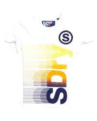 Superdry - White Vertical T-shirt for Men - Lyst