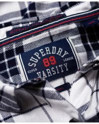 Superdry - Blue Midwest Dreaming Buffalo Check Shirt - Lyst