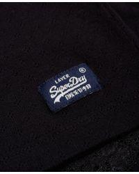 Superdry - Black Essentials Pointelle Cami Top - Lyst