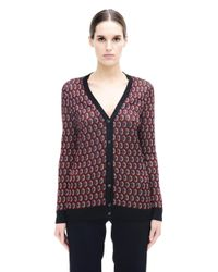 Marni | Red Acetate Cardigan | Lyst