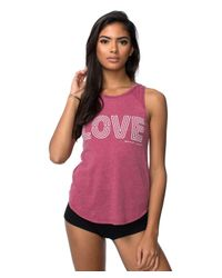 Spiritual Gangster | Red Neon Love Tank Top | Lyst