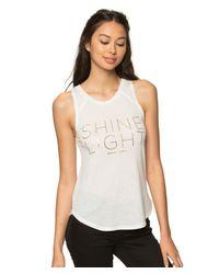 Spiritual Gangster | White Shine Light Arrow Tank Top | Lyst
