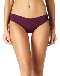 Anne Cole - Brown Live In Color Side Tie Bikini Swim Bottom - Lyst