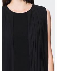 Roman - Black Pleated Dress - Lyst