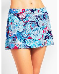 Talbots - Blue Runaway Paisley Swim Skirt - Lyst