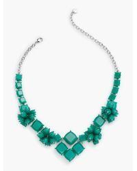 Talbots - Green Petals & Squares Statement Necklace - Lyst