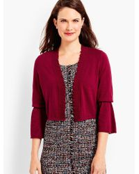 Talbots | Red Lettuce-edge Dress Shrug | Lyst