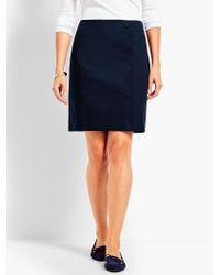 Talbots - Blue Canvas Scalloped-wrap Skirt - Lyst