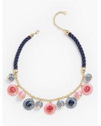 Talbots - Metallic Thread-wrap Statement Necklace - Lyst