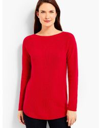 Talbots - Red Bateau Sweater - Lyst