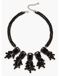 Talbots - Black Oversized Bead Statement Necklace - Lyst