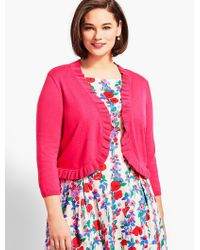 Talbots - Multicolor Plus Size Exclusive Ruffle-trim Bolero Shrug - Lyst