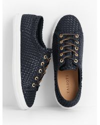 Talbots - Blue Hilly Woven Sneakers - Lyst
