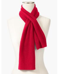 Talbots - Red Cashmere Pull-through Scarf - Lyst