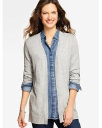 Talbots - Multicolor Marled No-close Cardigan - Lyst