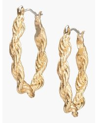 Talbots - Metallic Twisted-rope Hoops - Lyst