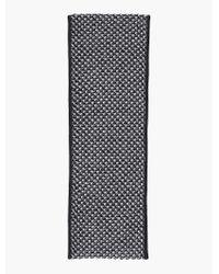 Talbots | Black Tuck-stitched Infinity Scarf | Lyst