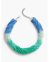 Talbots - Blue Mardi Gras Twist Necklace - Lyst
