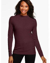Talbots - Purple Italian Merino Wool Sweater - Lyst