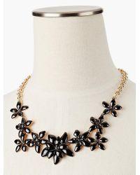 Talbots | Black Pretty Posy Necklace | Lyst