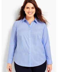 Talbots - Blue Womans Exclusive The Longer-length Long-sleeve Shirt - End-on-end - Lyst