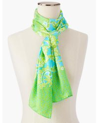 Talbots - Green Floral Paisley Print Scarf - Lyst
