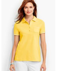 Talbots - Yellow The Pique Polo - Lyst
