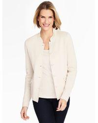 Talbots | White Milano Sweater Jacket | Lyst